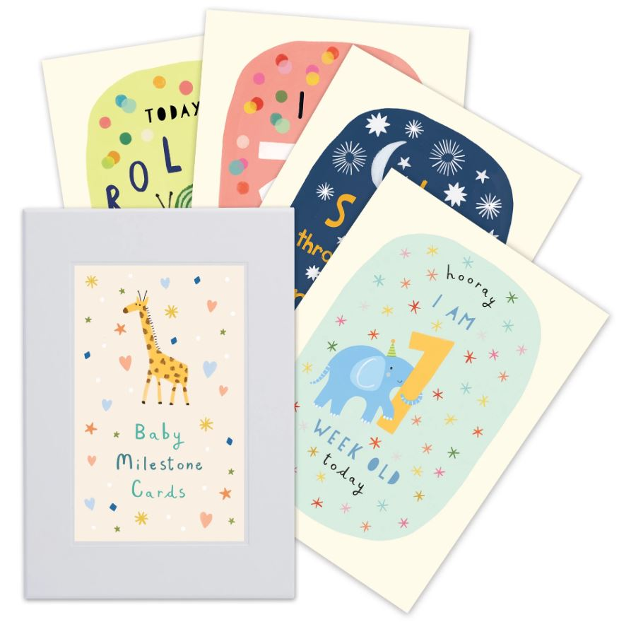 Baby Milestone Cards | Illustrated by Katherine Hartley
