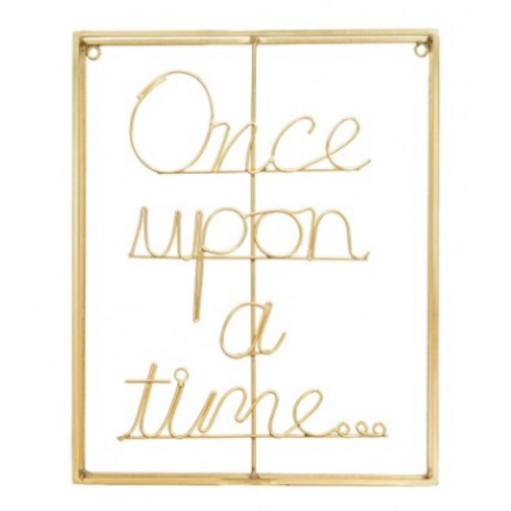 Once Upon a Time... Brass Metal Word Art
