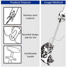 Load image into Gallery viewer, Easy Fish Hook Remover New Fishing Tool Minimizing The Injuries Tools Tackle T-type hook remover hook fishing tool