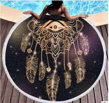 Load image into Gallery viewer, Bedding 3D printing Golden Round Bohemian Beach towel home textile  Beach Towel Tapestry Blanket