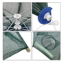 Load image into Gallery viewer, 16 Holes Automatic Folding Fishing Net Shrimp Cage Nylon