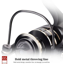 Load image into Gallery viewer, 2020 New 13+1BB Fishing Spinning Reel 2000-6000 No Gap Metal Spool Gear Ratio 5.2:1  Reel Carp Fishing Gear Pesca
