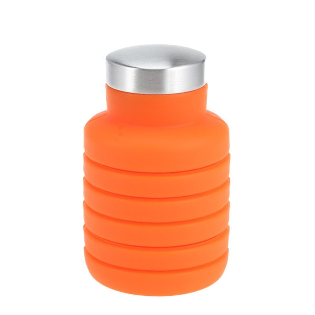 Water Bottle Portable Silicone Retractable Folding Water Bottle Outdoor Travel Telescopic Collapsible Bottle Plastic With Lid