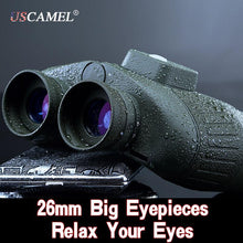Load image into Gallery viewer, USCAMEL Military 10x50 HD Marine Binoculars Zoom Rangefinder Compass Telescope Eyepiece Waterproof Nitrogen Army Green