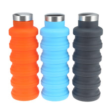 Load image into Gallery viewer, Water Bottle Portable Silicone Retractable Folding Water Bottle Outdoor Travel Telescopic Collapsible Bottle Plastic With Lid