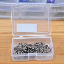 Load image into Gallery viewer, LEO  40pcs/box High Carbon Steel Circle Fishing Hooks Barbed  with Hole Freshwater