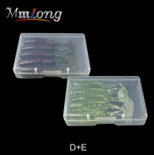 Load image into Gallery viewer, Mmlong 10pcs 2boxes 55mm Artificial Fishing Lure Soft Baits MT55 2.6g Tail Silicone Swimbaits Wobblers Tackle Pesca