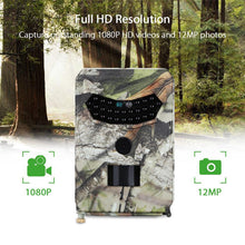 Load image into Gallery viewer, PR100 Hunting Camera Photo Trap 12MP Wildlife Trail Night Vision Trail Thermal Imager Video Cameras for Hunting Scouting Game