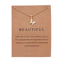 Load image into Gallery viewer, Fashion Elegant Animal Necklace Elephant Dragonfly Butterfly Flower Necklaces Vintage Necklace Pendant Charm Women Friend Gift
