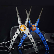 Load image into Gallery viewer, Fishing Pliers Aluminum Alloy scissors Hook Remover 150g 20CM Fishing Tools Line Cutter Multifunctional Knot Fishing Equipment