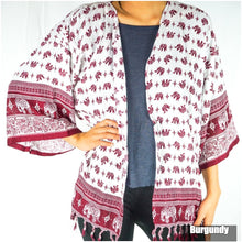 Load image into Gallery viewer, Elephant Tribal Boho Kimono Cover Up