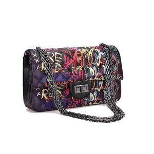 Rainbow Graffiti Handbag