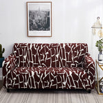 Housse de canape bi extensible marron