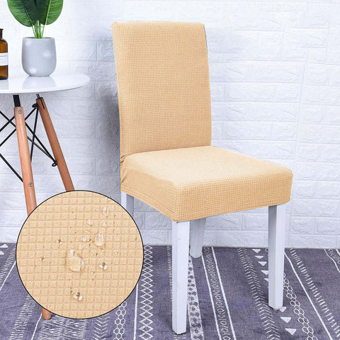 Housse de chaise impermeable beige