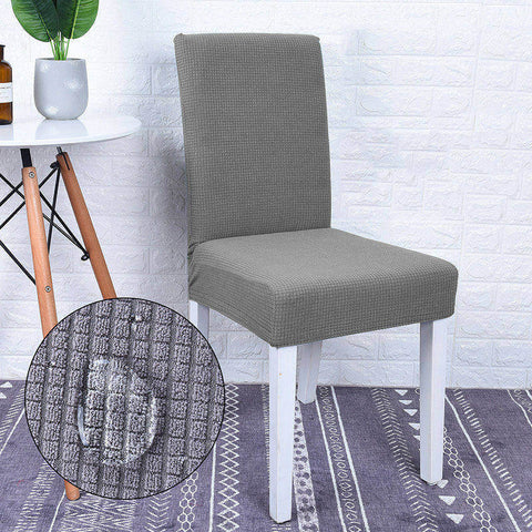 Housse de chaise impermeable gris