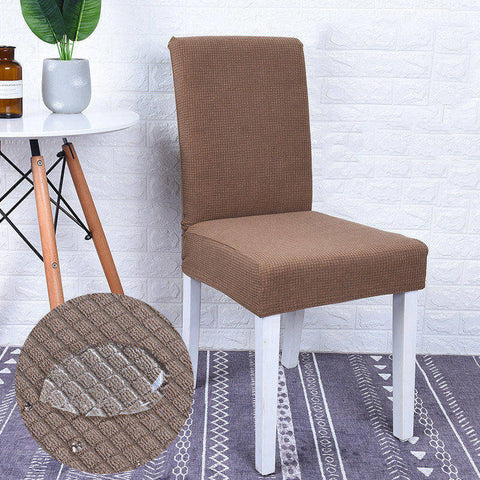Housse de chaise impermeable marron clair