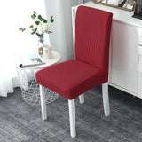 Housse de chaise impermeable rouge extensible