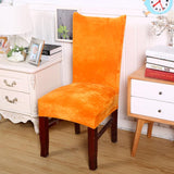 Housse de chaise en velours orange
