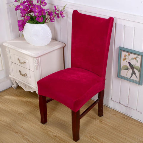 Housse de Chaise Velours Rouge