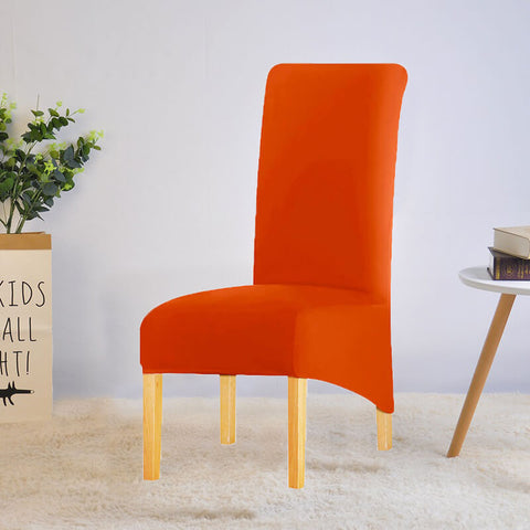 Housse de chaise xl grande taille orange