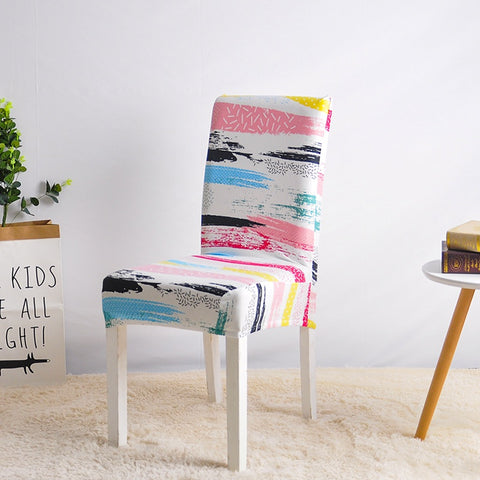 Housse de Chaise Moderne Multicolore