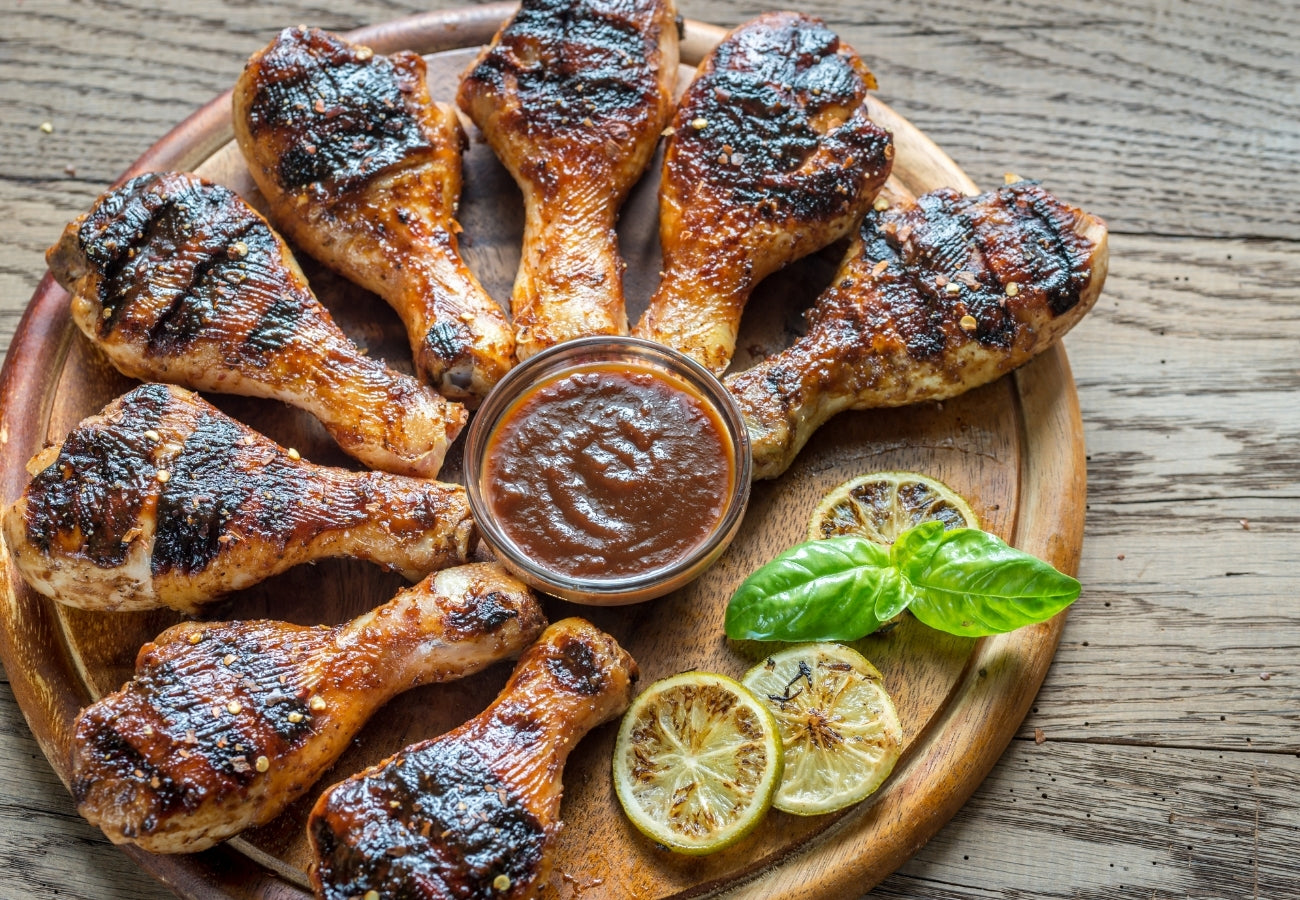 Grilled Chicken Drumsticks | Bring Home The Bacon