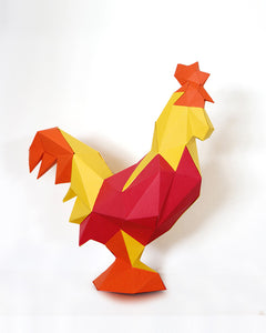 Gallo DIY de papel Mix