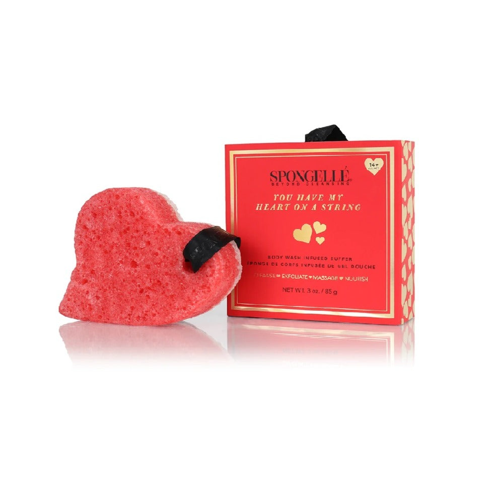 Heart Shaped Body Wash Infused Buffer