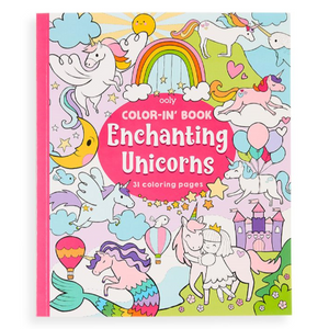 Enchanting Unicorns Color-in' Book
