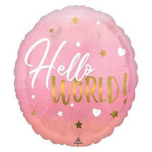 "18"" Pink Hello World"
