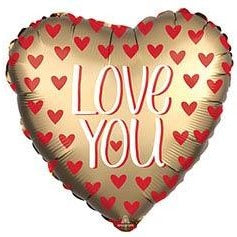Large Love You Gold Heart