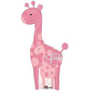 Large It's A Girl Pink Giraffe