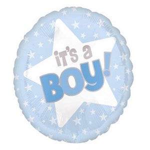 "18"" White Stars It's a Boy"