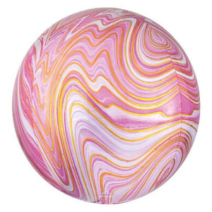 Large Pink Marble Orbz Balloon