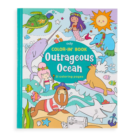 Outrageous Ocean Color-in' Book
