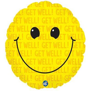 "18"" Get Well Smiley Balloon"