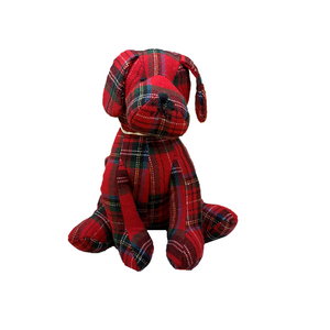 Plaid Dog Door Stop