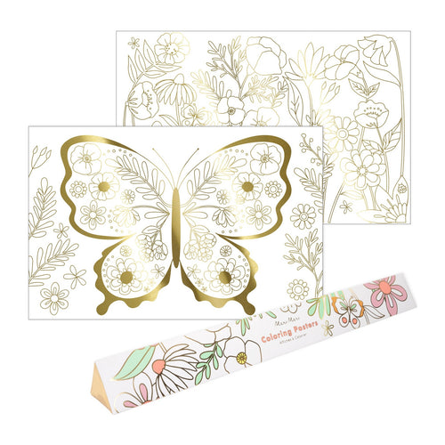 Butterfly Coloring Poster