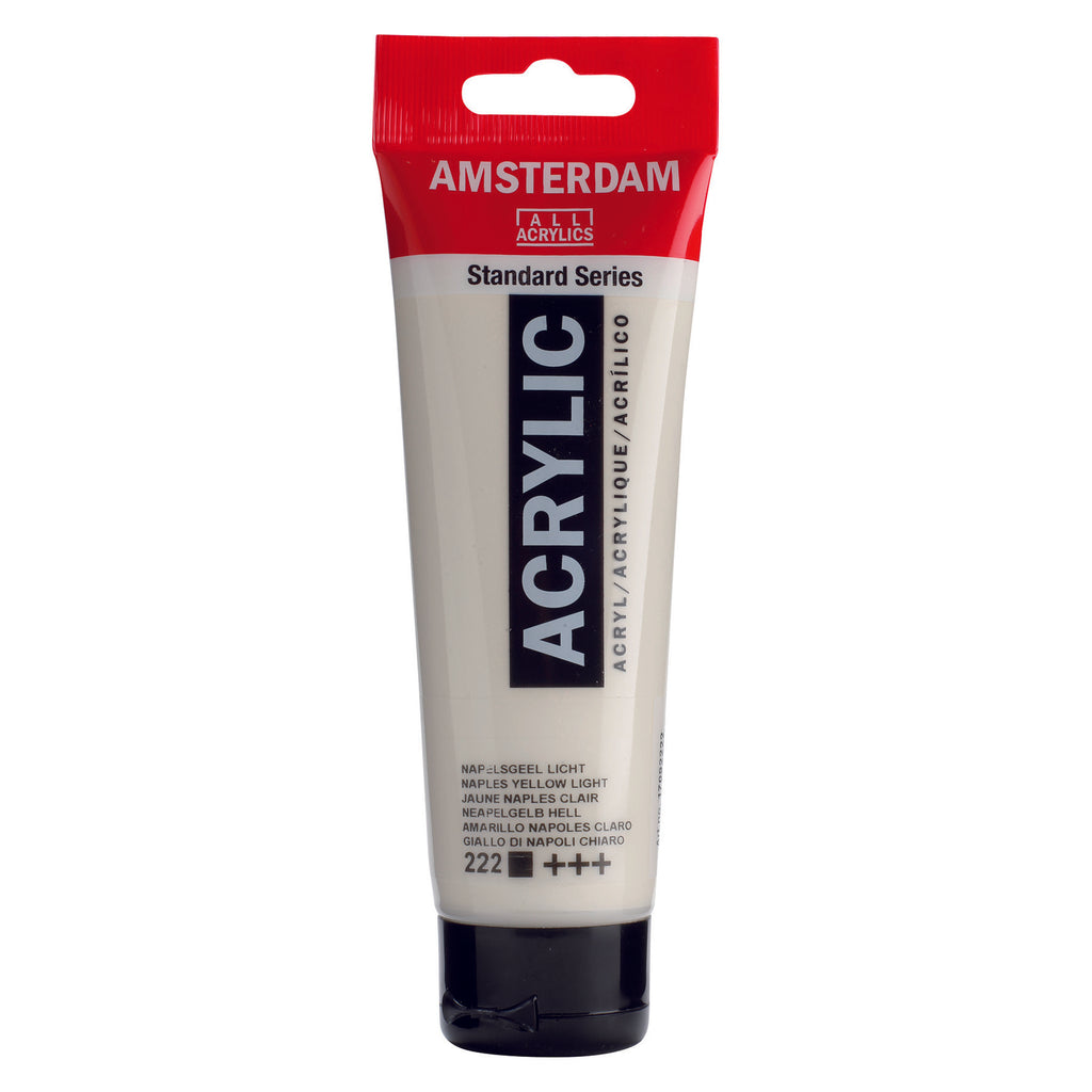 Amsterdam acrylics are highly permanent, have excellent lightfastness and are an exceptionally durable paint film (the binding agent consists of 100% acrylic resin).