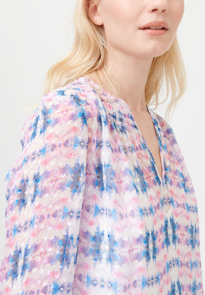 Pink and Blue Blouse