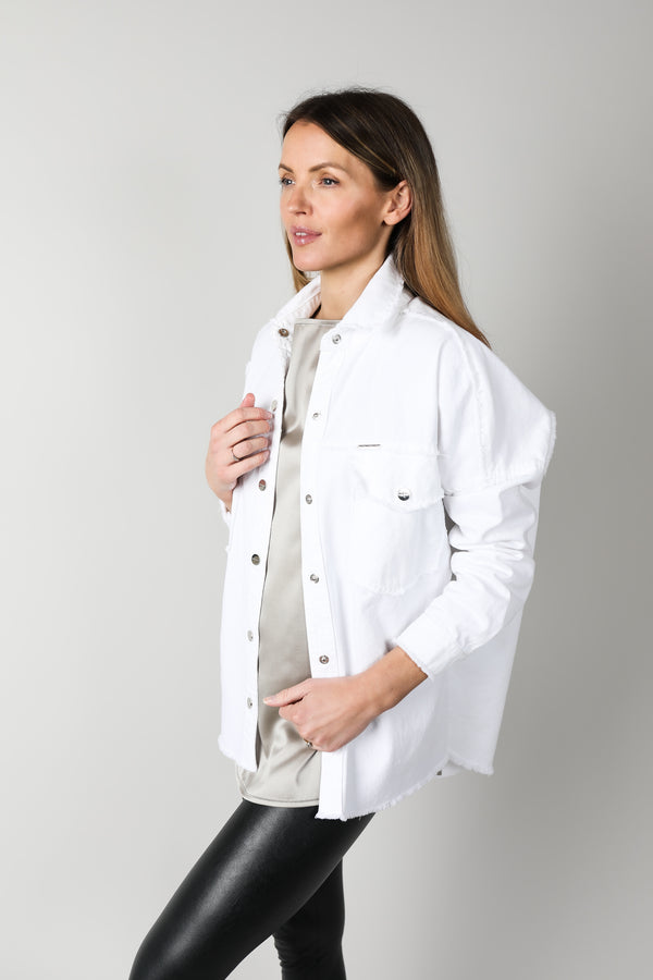 White Oversized Denim Shirt