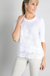 You added <b><u>Embroidered White Sleeved Top</u></b> to your cart.