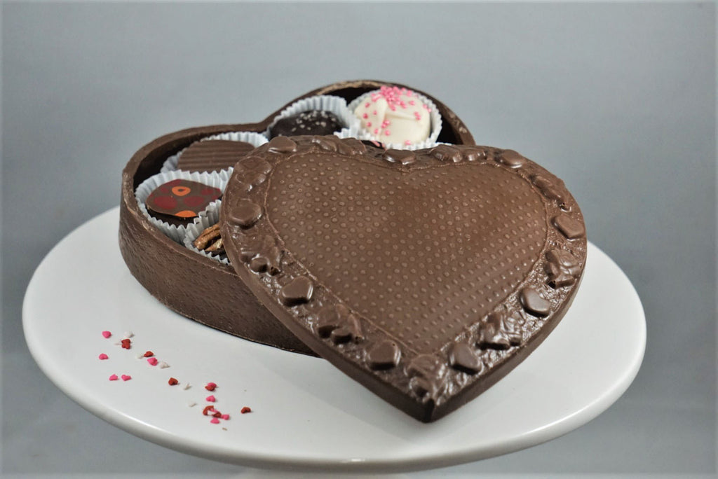 Medium Chocolate Lace-Top Truffle Box