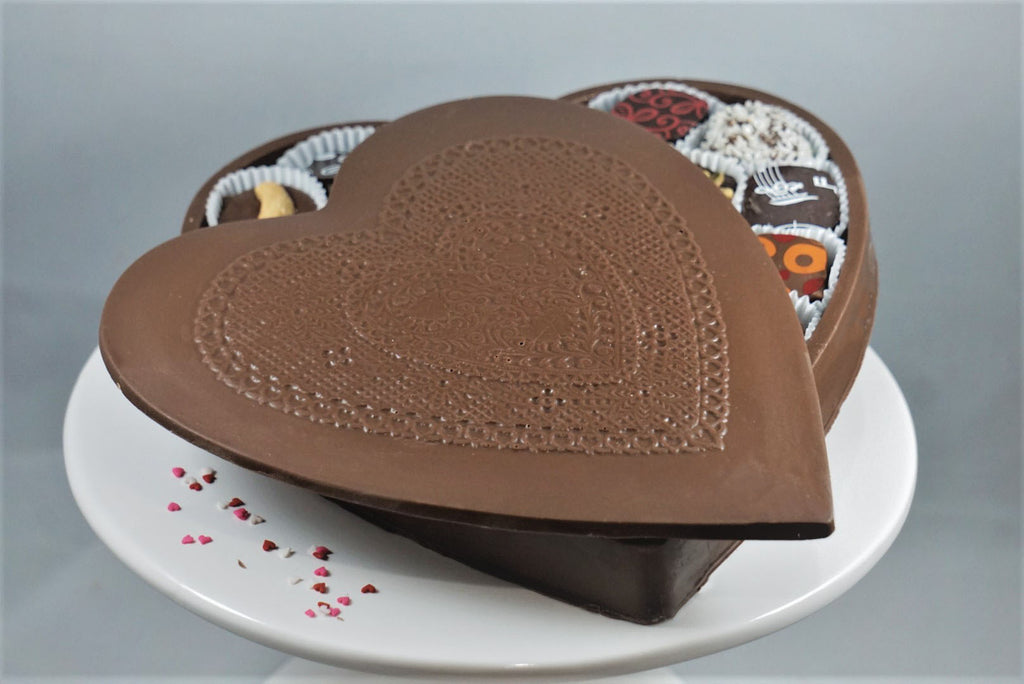 Large Chocolate Heart Shaped Truffle Box