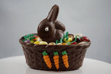 Small Chocolate Basket with Pudgy Bunny and Jellies