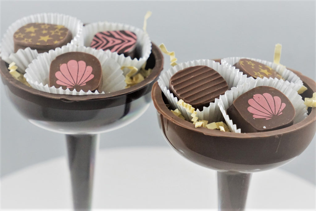Chocolate Dipped Champagne Flutes