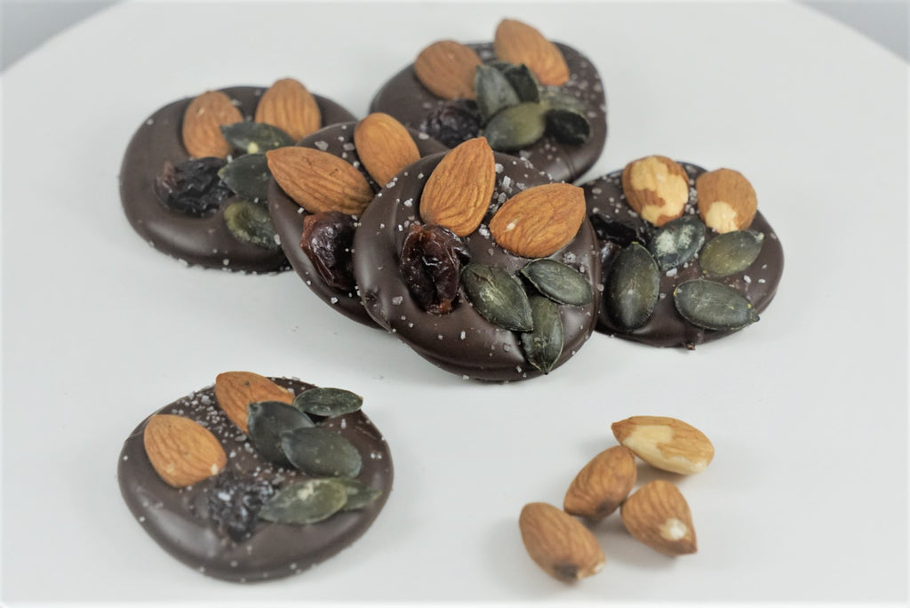 Dark Chocolate Fruit and Nut Drops