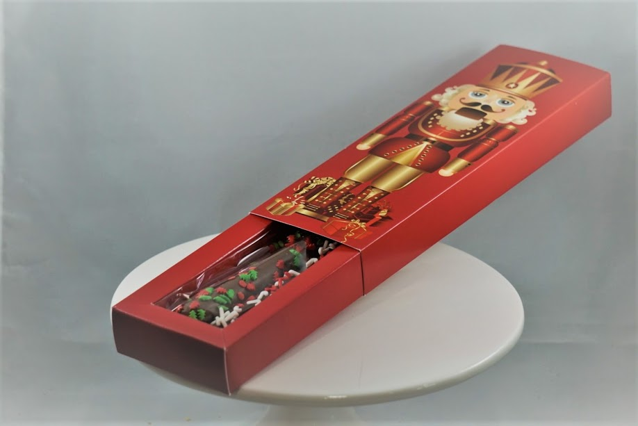 Holiday Pretzel Rod Nutcracker Box