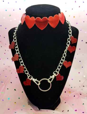 Queen Of Hearts Chokers (3 Colors Available!)