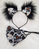 Black Magic Mask & Ears Set